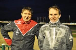 Het  succevolle duo Engwerda  en Ebbinge. Trainers- en rijderskampioen 2014